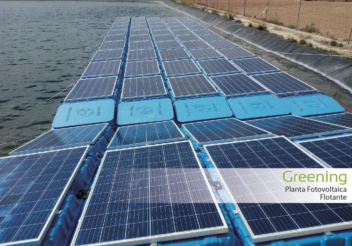 Primera planta fotovoltaica flotante en Andalucía