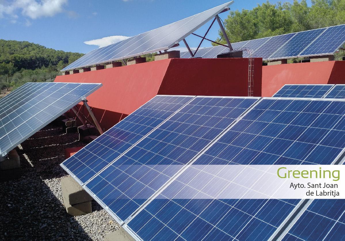 Instalación fotovoltaica de autoconsumo de 18 kW en Ibiza