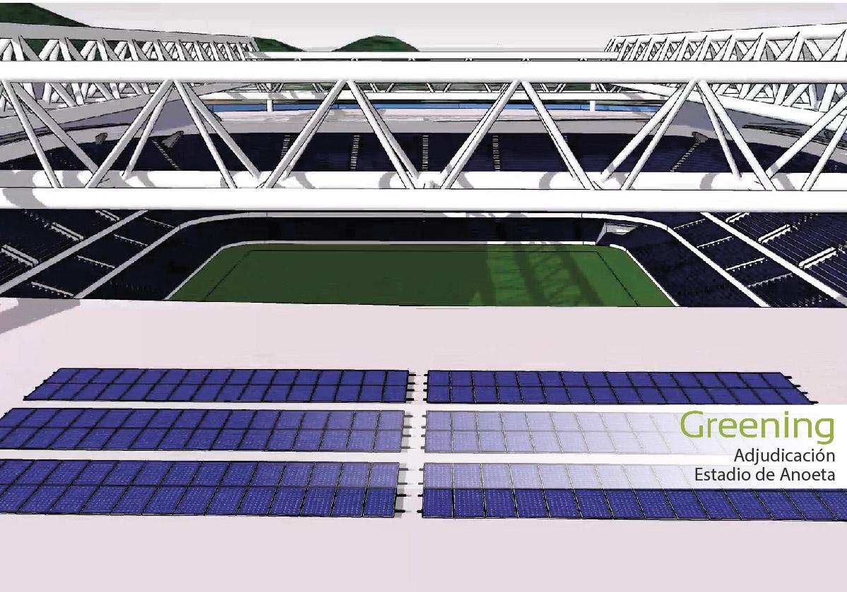 Adjudicado a Greening el proyecto de instalación de energía fotovoltaica para el Estadio de Anoeta