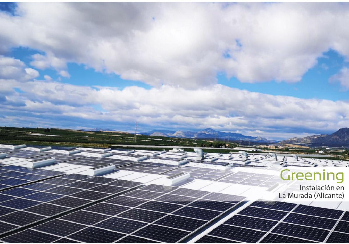 Instalación fotovoltaica de 790 kWp en Alicante