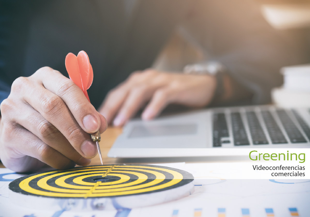 Presentaciones comerciales de Greening a través de videoconferencias