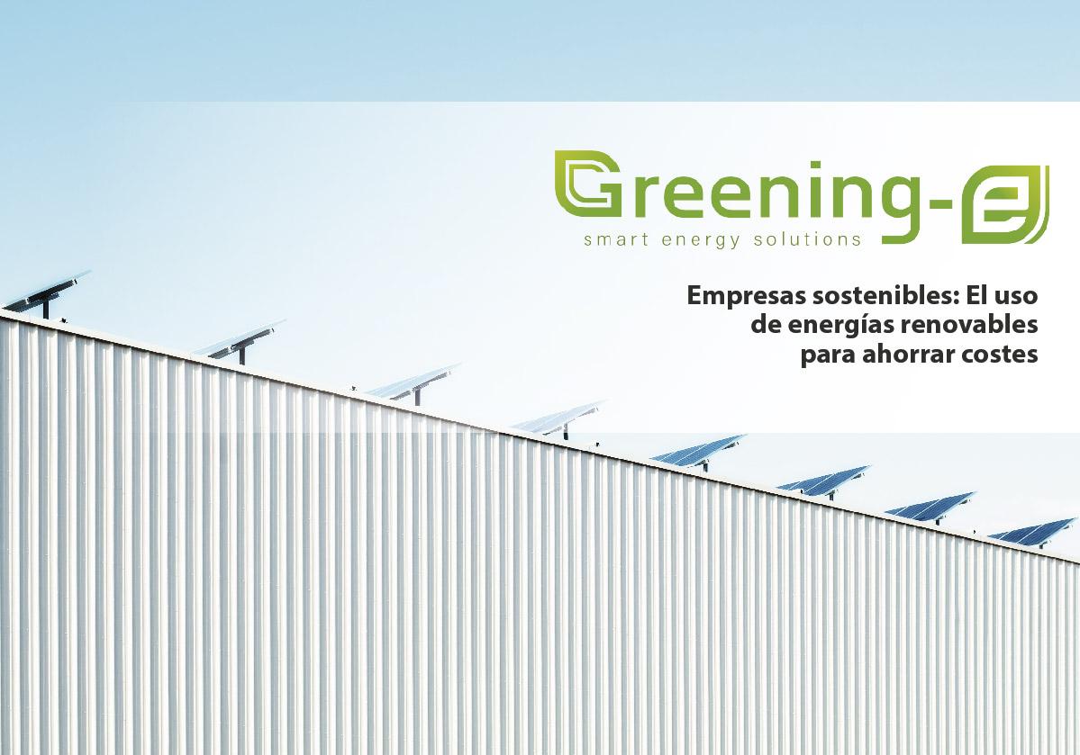 Empresas Sostenibles: El uso de energías renovables para ahorrar costes