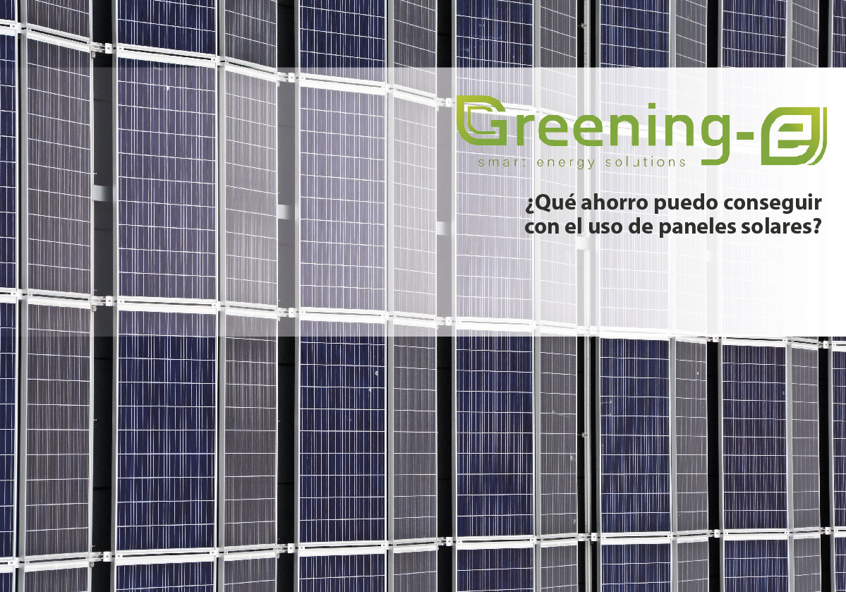 ¿Qué ahorro puedo conseguir con el uso de paneles solares?
