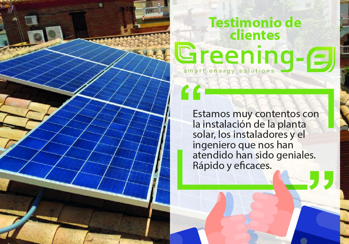 """Testimonios de clientes Greening-e: """"Estamos muy contentos con la instalación"""""""