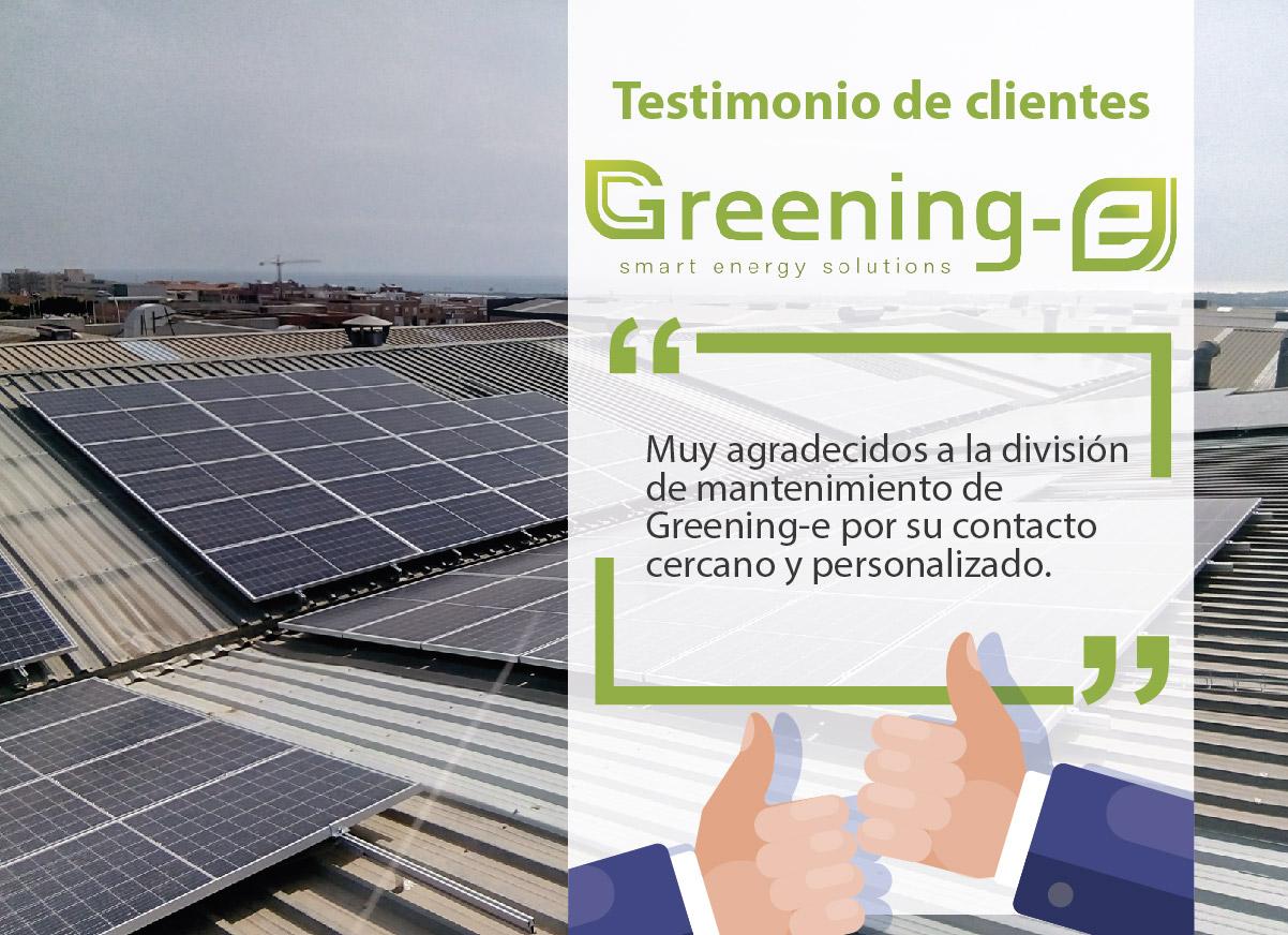 """Testimonio de clientes Greening-e: """"Muy agradecidos a la división de mantenimiento de Greening-e"""""""