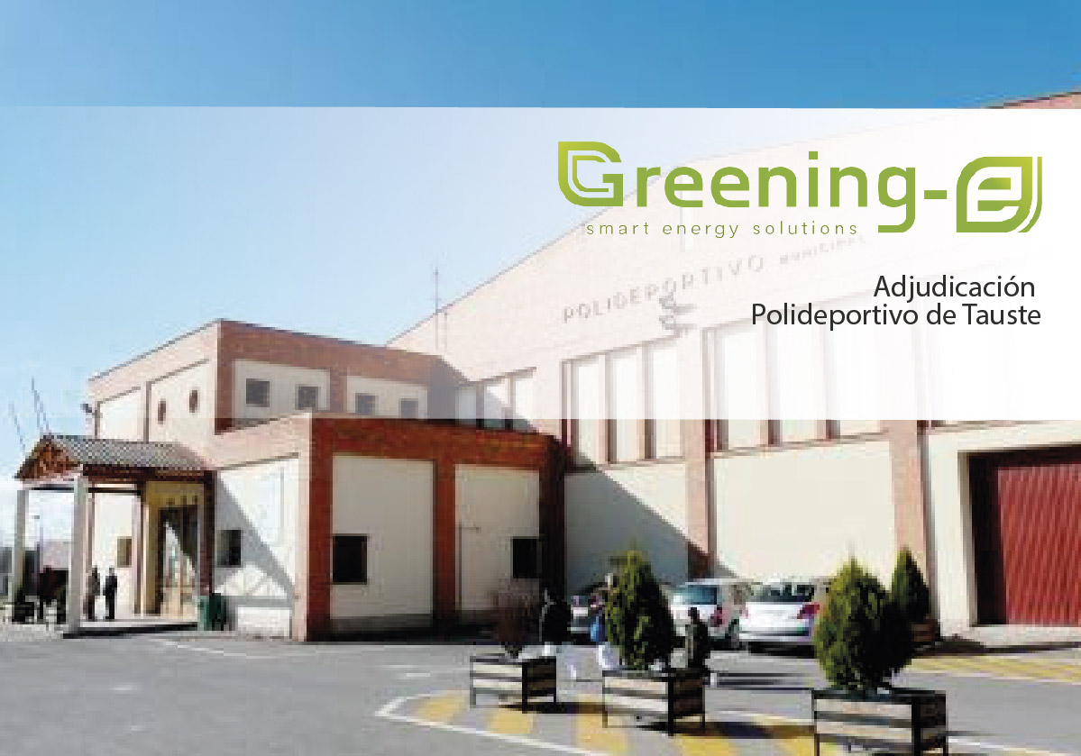 Adjudicada a Greening-e la instalación de paneles solares híbridos en el polideportivo de Tauste