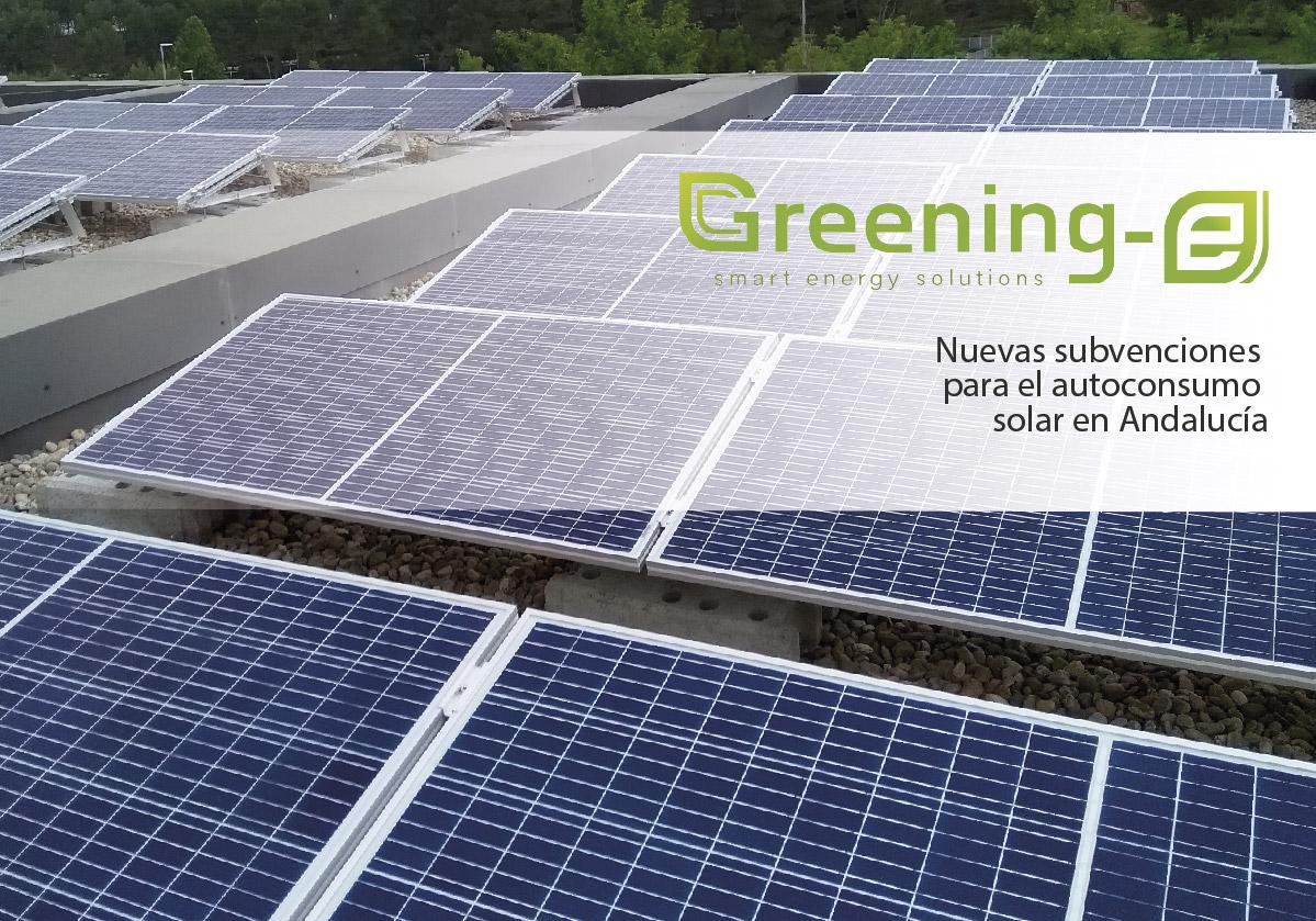 Nuevas subvenciones para el autoconsumo solar en Andalucía